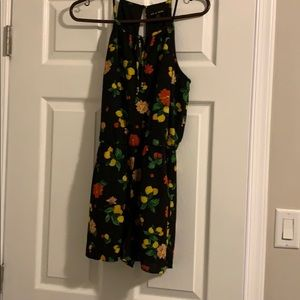Lemon/flower designed summer romper (never worn)